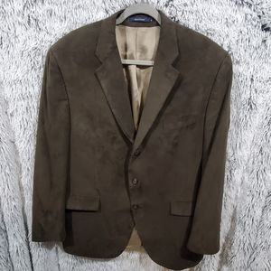 Ralph lauren men's faux suede sport coat jacket XL